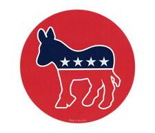 Magnetic Bumper Sticker - Democrat Donkey (Liberal) - Round Magnet