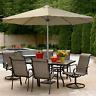8FT Outdoor Umbrella with Aluminum Pole Patio Garden Sun Shade Beige Adjustable