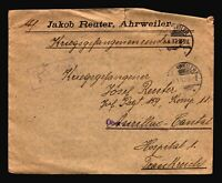 Germany 1917 POW Cover to France / Small Top Tear & Crease Corner - Z14411