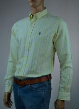 Ralph Lauren Classic Fit Teal Plaid Long Sleeve Shirt/green Pony 2xl