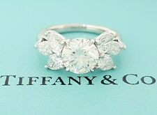 Tiffany & Co Victoria 3 ct Platinum Round Pear & Marquise Diamond Ring Rtl $39k
