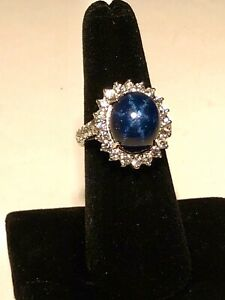 PRICE REDUCED : Sapphire and Diamond Ladies Ring - 14k Gold Size 6.5