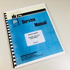 CUB CADET TRACTOR 782 882 DIESEL ENGINE FUEL ELECTRICAL SERVICE SHOP MANUAL