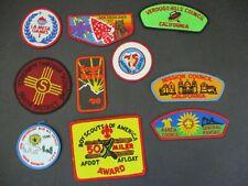 Lot of 10 boy scout patches/council shoulder strip/OA Lodge flap #68