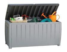 Novel Plastic Deck Storage Container Box Outdoor Patio Garden Furniture 90 Gal