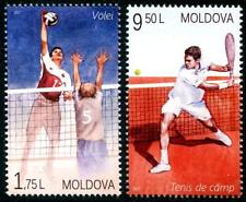 Volley-ball TENNIS Lot de 2 MNH Timbres 2017 MOLDAVIE SPORTS FILET