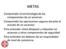Spanish Language Elevator Technical Rescue Awareness Ppt Training Presentation