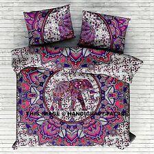 Indian Elephant Mandala Blanket Comforter Ethnic Hippie Doona Duvet Quilt Cover