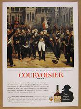 1963 Courvoisier Cognac napoleon at fontainebleau painting vintage print Ad