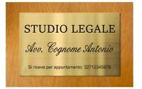 Elegante Targa Metallo colore oro lucido Notaio Avvocato Dottore logo