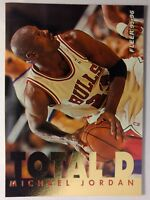 95-96 Michael Jordan Fleer TOTAL D Gold Foil Insert #3 - Chicago Bulls, HOF!