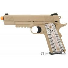 WE Tech Full Metal 1911 M45A1 Gas Blowback Airsoft Pistol TAN