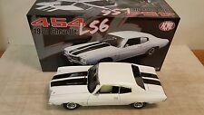 ACME: 1:18 1970 CHEVROLET CHEVELLE - CLASSIC WHITE WITH BLACK STRIPES - NEW!!!