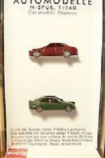 2 Mercedes C Class N scale Autos maroon and Green Busch 8315 Germany
