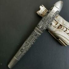 Fuliwen Huge Size Fountain Pen Egypt Mars Brass Ink Pen Medium #6 NIb Converter