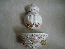 New listing Vtg Ardalt Lavabo Italy Fountain Wall Unit 3 Pc Home Decor 4456 Floral Garden
