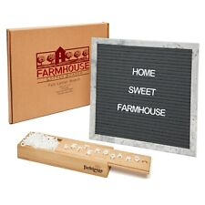 "12x12"" Premium Changeable Felt Letter Board, 330 Characters & Wooden Storage Box"