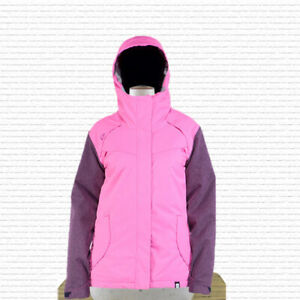 Ride Broadview Insulated Snowboard Jacket Womens Medium Pink / Pink-a-Doodle New