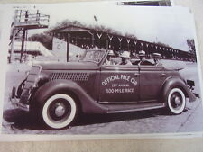 1935 FORD INDY 500 PACE CAR  11 X 17  PHOTO /  PICTURE