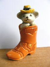 Artesania Rinconada Retired Mouse in Cowboy Boot #73E Miniature Animal Figurine