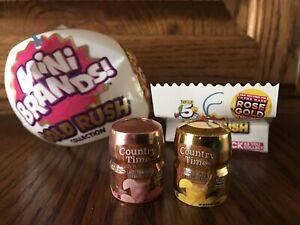 Mini Brands Gold Rush- Ultra Rare Rose Gold Country Time Lemonade Set Limited