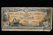 1917 Canada. ($10) Ten Dollars. Canadian bank Of Commerce.