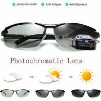 Polarized Photochromic Sunglasses Mens Pilot UV400 Driving Transition Sunglasses