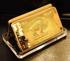 "1 TROY OUNCE  ""CLASSIC BUFFALO"" .999 24kt GOLD BULLION BAR/ ...fast delivery!"