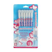 Sakura 58483 Quickie Glue Pen 6 Piece Set Pack Fine Point NEW!