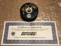 Edmonton Oilers Ryan Nugent Hopkins Signed Hockey Puck + COA