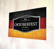 BANDIERA Tedesca Oktoberfest Birra Etichetta Firmare a4 Metallo Placca Decor Foto