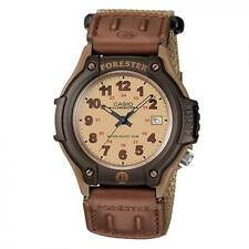 Mens Forester Casual Watch, Brown Cloth/Velcro Band