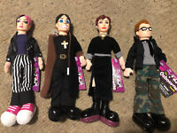 "Osbourne Fun 4 All 9"" Plush Toy Doll Figure W/Hard Head The Family Show All 4"