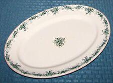 "1896 John Maddock Priscilla 12 1/2"" x 8 3/4"" Vitrified.Oval Serving Platter VGD"