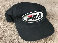 Vintage Fila Hat Snapback Cap 32 spellout black logo shirt jacket