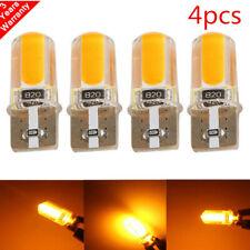 4pc T10 194 168 W5W COB LED Car Canbus Silica Width Light Bulb Amber Yellow Lamp