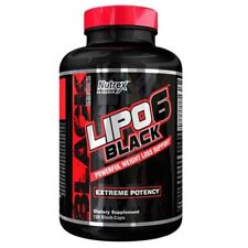 Nutrex LIPO 6 BLACK 120 Caps Extreme Weight Loss Support Fat Burner