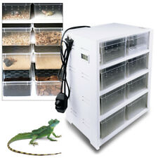 Reptile Pet 8 Grids Transparent Insect Spiders Lizard Cage Feeding &Breeding Box