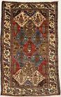 Farmhouse Decor Oriental Rug Floral Garden 4X7 Vintage Hand-Knotted Home Carpet