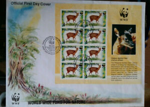 WWF Philippines Visayan Spotted Deer First Day Cover 1997