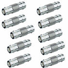 10pc Lot BNC to BNC CCTV Coaxial Cable Coupler Adapter Connector Security System