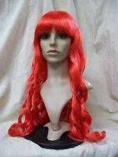 Red Desire Wig Long Wavy Curls Lil Mermaid Ariel Fantasy Glamour Goddess of Fire