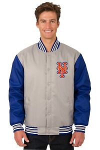 MLB New York Mets  Poly Twill Jacket  Front Patch Logo JH Design