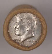 1969 D Kennedy Half Dollar Roll 40% Silver OBW 20 Coins