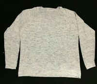 MARL GREY BLUE PURE COTTON JUMPER SWEATER CASUAL EVERYDAY LEISURE MENS XXL 54""