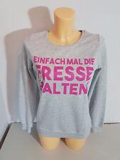 BLIND DATE CASUAL  Sweater  Sweatshirt  Gr. XS  grau  Baumwolle  Schrift  NEU