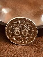 Mexico 1945 .720 Silver 50 Centavos  Nice !