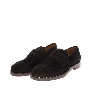 RRP €785 VALENTINO GARAVANI Leather Loafer Shoes Size 44 UK 10 US 11 Rockstuds