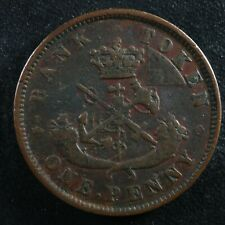PC-6A2 One Penny 1850 dot token Bank of Upper Canada Breton 719