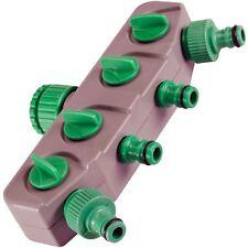 Silverline 167269 4-Way Tap Connector Garden Hose Watering Shut-Off Valve